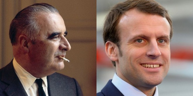 Georges_Pompidou_Emmanuel_Macron