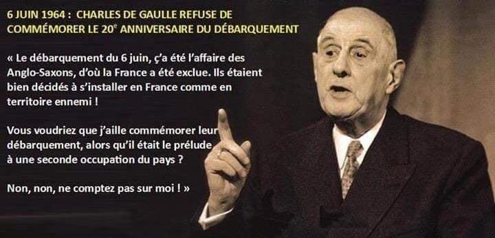 Charles de Gaulle débarquement 6 juin 1944