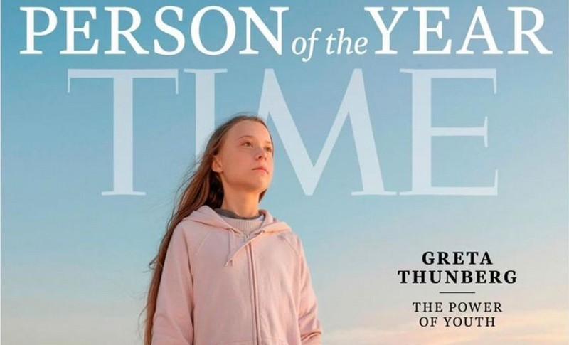 Greta Thunberg - Person of the year - Time 2019.bandeau