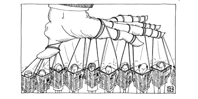 Manipulation presse