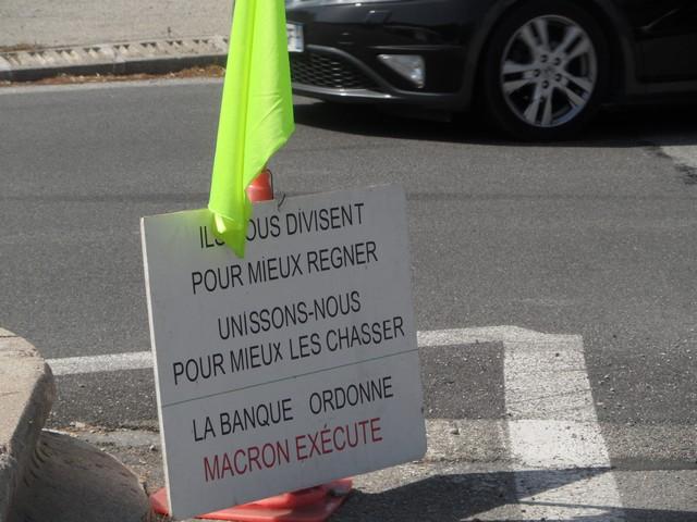 Gilets Jaunes Cannes - Rond-point Victoire Cannes - 1er août 2020