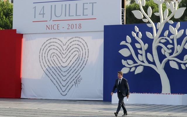 Christian Estrosi - célébration 2018 attentat Nice 14 juillet 2016