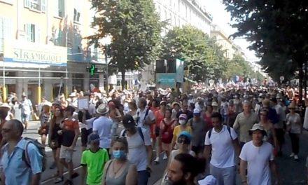 Nouvelle démonstration de force des antipass à Nice ce samedi 14août
