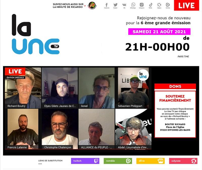 LaUneTV - 26 août 2021 - Gilets Jaunes Cannes