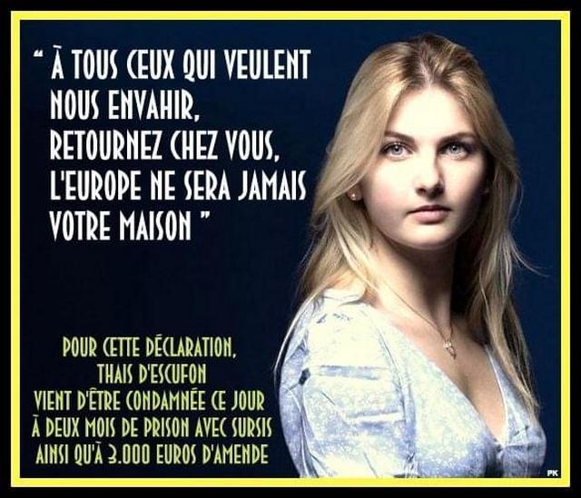 Thaïs d'Escufon - Condamnation