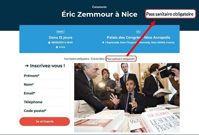 Zemmour - Nice - 18 septembre 2021